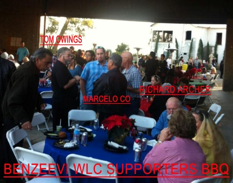 Iddo Benzeevi's WLC BBQ - Tom Owings, Marcelo Co, Richard Archer, Susan K. Owings and Archers Wife.
